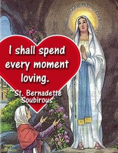 St. Bernadette Valentine eCard